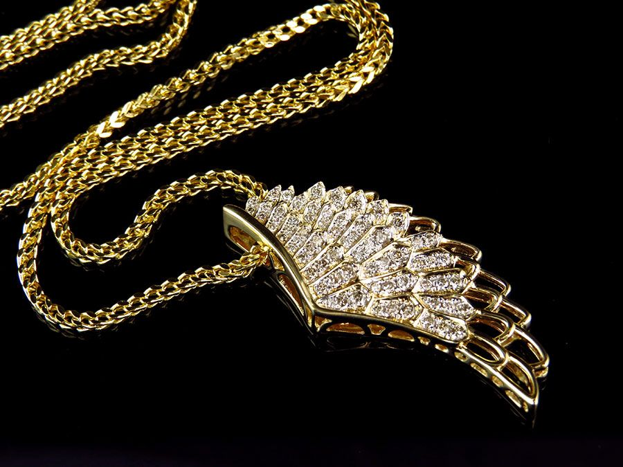 Franco link chain pendant