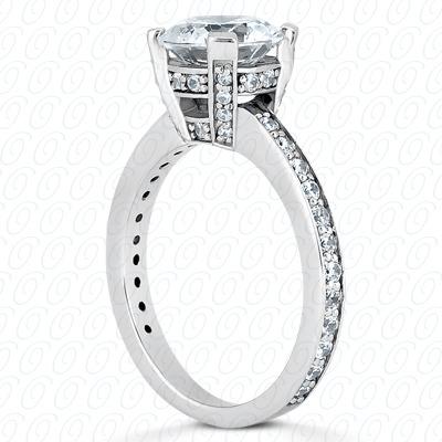 14 Karat White Gold Fancy Cut Diamond Unique Engagement Ring