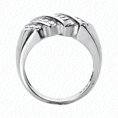 14 Karat White Gold Fancy Styles Cut Diamond Unique Engagement Ring