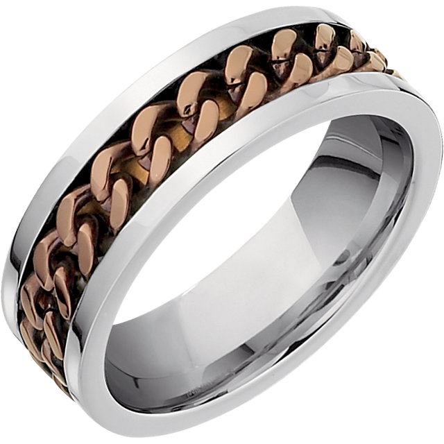 Chocolate Immerse Plated Inlay Stainless Plated Band
